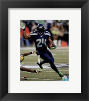 Framed Marshawn Lynch football 2014