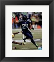 Framed Marshawn Lynch football 2014