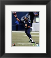 Framed Russell Wilson 2014 Action