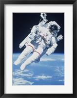 Framed AstronautTaking a Spacewalk