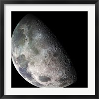 Framed Galileo spacecraft returned images of the Moon during its flight