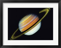 Framed Saturn Taken By Voyager 2 From A Distance of 27 Million Miles