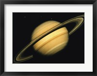 Framed Saturn's Icy Moons