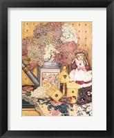 Framed Fleurs et dentelles