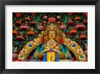 Framed Buddha statues at Stok Palace, Ledakh, India