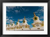 Framed India, Jammu and Kashmir, Ladakh, Leh, chortens at Thiksey Monastery