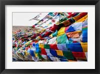Framed India, Jammu and Kashmir, Ladakh, Namshangla Pass prayer flags