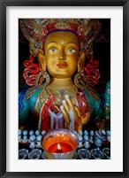 Framed Maitreya Buddha at Thiksey Monastery, Leh, Ledakh, India