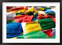 Framed Prayer flags, Namshangla Pass, Ladakh, India