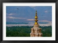 Framed India, Ladakh, Leh, Gonpa Soma Jokhang spire,