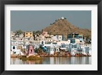Framed Pushkar shore, Pushkar, India