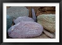 Framed Prayer stones, Ladakh, India