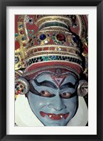 Framed Kathakali Dancer Portrays Scenes from Hindu Epics, India