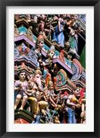 Framed Hindu Figurines on Temple, Bangalore, India