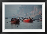Framed Boats in the Ganges River, Varanasi, India