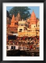 Framed Ganges River in Varanasi, India