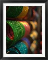 Framed Bangles are stacked up at a store in Bangalore, Karnataka, India,