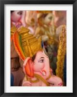 Framed Ganesha statue for the Ganesha Chaturthi festival, Bangalore, India