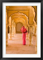 Framed Arches, Amber Fort temple, Rajasthan Jaipur India
