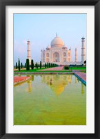 Framed Taj Mahal Temple at Sunrise, Agra, India