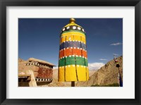 Framed Colorful structure, Gompas And Chortens, Ladakh, India