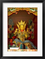 Framed Statue in Thikese Monastery, Ladakh, India