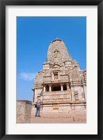 Framed Jain Temple in Chittorgarh Fort, Rajasthan, India