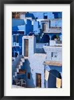 Framed Traditional blue painted house, Jodphur, Rajasthan, India