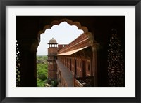 Framed Architecture of Agra Fort, India