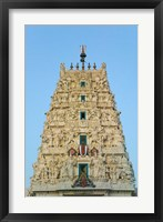 Framed Hindu Temple in Pushkar, Rajasthan, India
