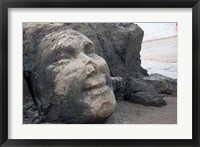 Framed Famous Face of Shiva on the Rock on Vagator Beach, Goa, India