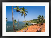 Framed Goa, India. Big and Little Vagator beaches