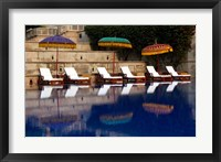 Framed Outdoor swimming pool at Oberoi Amarvilas hotel, Agra, India