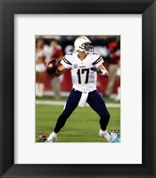Framed Philip Rivers Passing Football