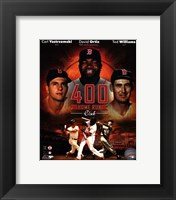 Framed Boston Red Sox 400 Home Run Club