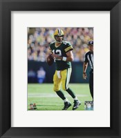 Framed Aaron Rodgers 2014 holding the ball