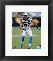 Framed Luke Kuechly 2014 Action