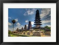 Framed Scenic of Pura Taman Ayun temple, Mengwi, Bali, Indonesia