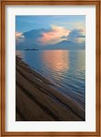 Framed Indonesia, Bali Sanur Beach with Mount Gunung Agung