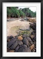 Framed Beach Landscape, Java, Indonesia