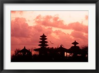 Framed Sunset at the Temple by the Sea, Tenah Lot, Bali, Indonesia
