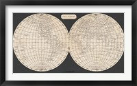 Framed Map of the World, 1812