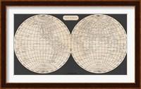 Framed Map of the World, 1812