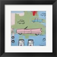 Framed Pink Car