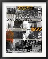 Framed New York Style XI