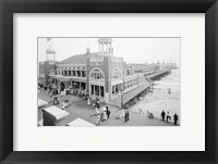 Framed Atlantic City Steel Pier, 1910s