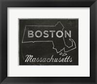 Framed Boston, Massachusetts