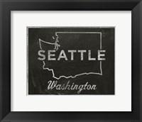 Framed Seattle, Washington