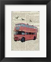 Framed Butterfly London Bus