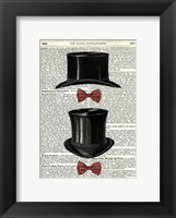 Framed Top Hat & Bow Ties